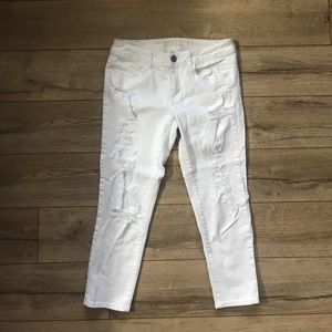 White Cropped Jegging AE